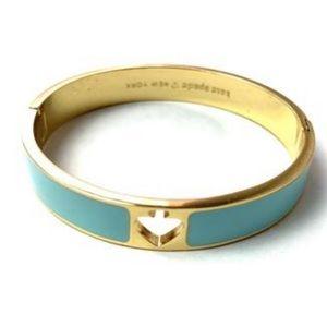 Kate Spade Hole Punch Wide Enamel Bangle Bracelet